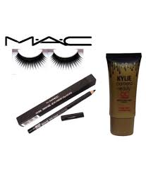 mac eyelashes z 30 pencil kajal kylie cc cream makeup kit 2 gm
