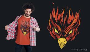 T Shirt Design Phoenix Strong Burning Phoenix T Shirt Design Vector Download