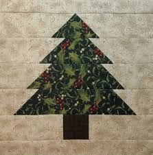 Neighborhood Quilt Club: Tree - Quilt Block Tutorial & Pine Tree block (or Christmas Tree block if you use Christmas fabric like I  did) Adamdwight.com