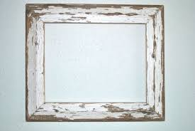 a2 white wood photo frame 11x14 chippy white wood frame reclaimed old texas cottage white wood