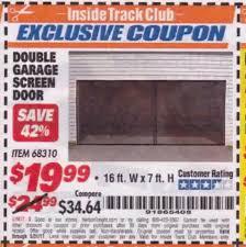 harbor freight itc double garage door screen lot no 68310 expired 5 itc double garage door screen lot no 68310 expired 5 31 17 19 99