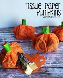 thanksgiving table favors. Tissue Paper Pumpkin, Party Favors, Candy Holders, Paper, Halloween Thanksgiving Table Favors