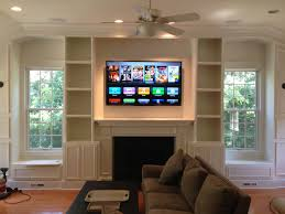 fireplace windows with built ins and on each side google
