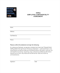 confidentiality agreement template 10 employee confidentiality agreement templates free sample