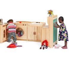 Preschool Kitchen Furniture Woodcrest Kitchen Set From Community Playthings Perfect For