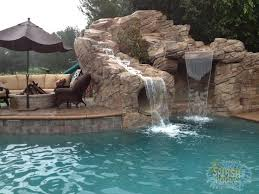 Best Swimming Pool Waterfall Slides Images On Pinterest
