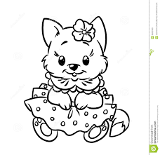 kitten coloring pages for kids | Just Colorings