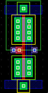 the same as you did for the output port this time you will specify that this will be an input signal port with name in the layout should now look ic layout designer