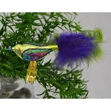 Christbaumschmuck Vogel Mit Klammer Blaugrün Landmücke