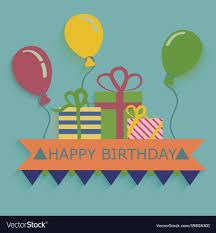 Balloon Birthday Card Design Happy Birthday Card Design Template Balloon