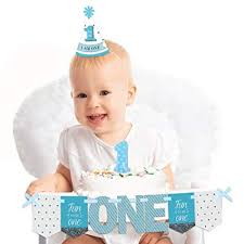 Amazoncom Big Dot Of Happiness 1st Birthday Boy Fun To Be One
