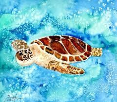 sea turtle sea life painting print by mccrea columbus sea