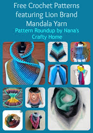 Lion Brand Free Crochet Patterns Extraordinary Crochet Pattern Roundup Featuring Lion Brand Mandala Yarn