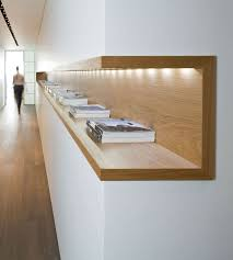 architecture simple office room. interior architecture wood shelf with inbuilt light neat and simple love office room