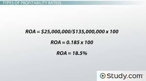 profitability ratio definition formula analysis example profitability ratio definition formula analysis example video lesson transcript com