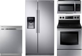 Kitchen Packages Appliances Samsung 4 Piece Kitchen Package With Ne59j3420ss Electric Range