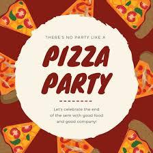 Pizza Party Invitation Templates Red Pizza Party Invitation Templates By Canva