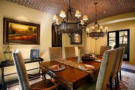 kitchen decorating design ideas using round cone light brown chandelier over dining table including