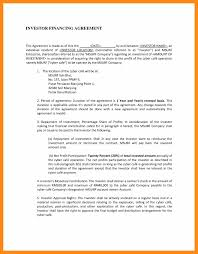 standard investment contract fancy contract template under fontanacountryinn com