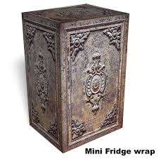 metal door texture. Old Metal Door Texture With Rust Mini Fridge Wrap