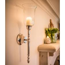 pair of classic candle wall sconces