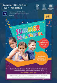 summer camp flyer jpg psd esi indesign summer kids school flyer template