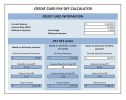 How To Payoff Credit Card Debt Calculator Spreadsheet For Paying Off Debt And Credit Card Payoff Calculator