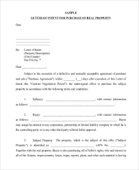 Free 8 Sample Letter Of Intent Format In Pdf Doc