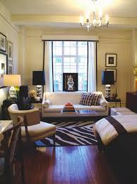 apartment living room rug. Calm Small Studio Apartment Living Room With White Futon Loveseat And Zebra Area Rug I