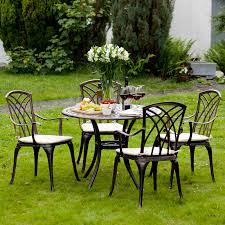 ellister regency 4 seater dining set bronze 90cm table