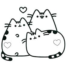 Opulent Ideas Kawaii Cat Coloring Pages Free Download Best Pusheen