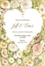 Wedding Anniversary Anniversary Invitation Template Free