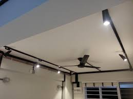 image of wall mounted monorail track lighting