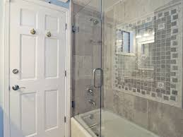 Traditional Full Bathroom With Crown Molding  High Ceiling In Los - Crown molding for bathroom