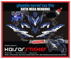 Aerox Decals Design Sticker Striping Decal Motor Yamaha Aerox 155 Batik Design