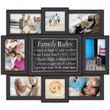 multiple picture frames family. Plain Family FAMILY RULES 8photo Wall Sculpture By Malden Intended Multiple Picture Frames Family