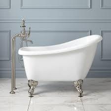 43 inch carter mini acrylic clawfoot bathtubs for pretty bathroom decoration ideas