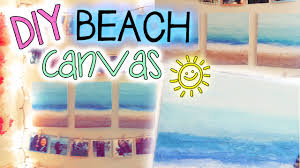 on outdoor beachy wall art with diy beach canvas wall decor easy youtube