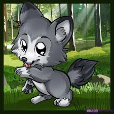 cute baby wolf anime. Brilliant Cute How To Draw A Cute Wolf With Baby Anime B