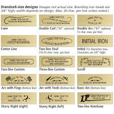 get a large selection of custom branding irons woods branding irons stigmatization toolore custom stigmatization atomic number 26 with cane intent