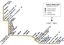 valley metro rail wikipedia Lrt Map Pdf the valley metro light rail system map lrt map kuala lumpur