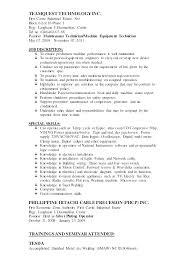Maintenance Technician Resume Cover Letter Mechanic Industrial
