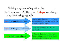 4 solving a system of equations
