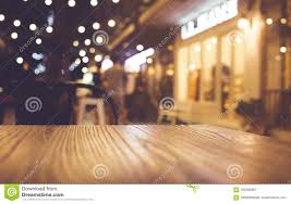restaurant table top lighting. Royalty-Free Stock Photo. Download Wood Table Top With Blur Of Lighting In Night Cafe Restaurant Community I