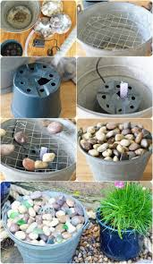 pretty little pail fountain diy project details makingforliving com the water