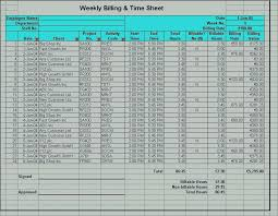 Weekly Project Billing Timesheet Template Excel Naveshop Co