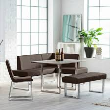 3hay modern l shaped dining bench with chrome