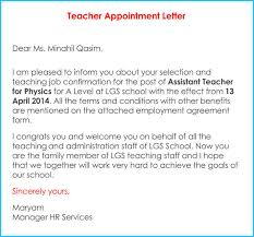 Letters For A Teacher Teacher Appointment Letter 7 Samples Letters And Templates