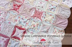 Simple Cathedral Windows Tutorial | Quilting in the Rain & This is a simple Cathedral Windows quilt tutorial that uses circles and is  also Quilt As-You-Go! I really enjoyed making this quilt – it's refreshing  to ... Adamdwight.com