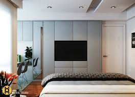 In this way, the tv becomes part of the wall decor instead of an eyesore and focal point. Elegant Contemporary And Creative Tv Wall Design Ideas